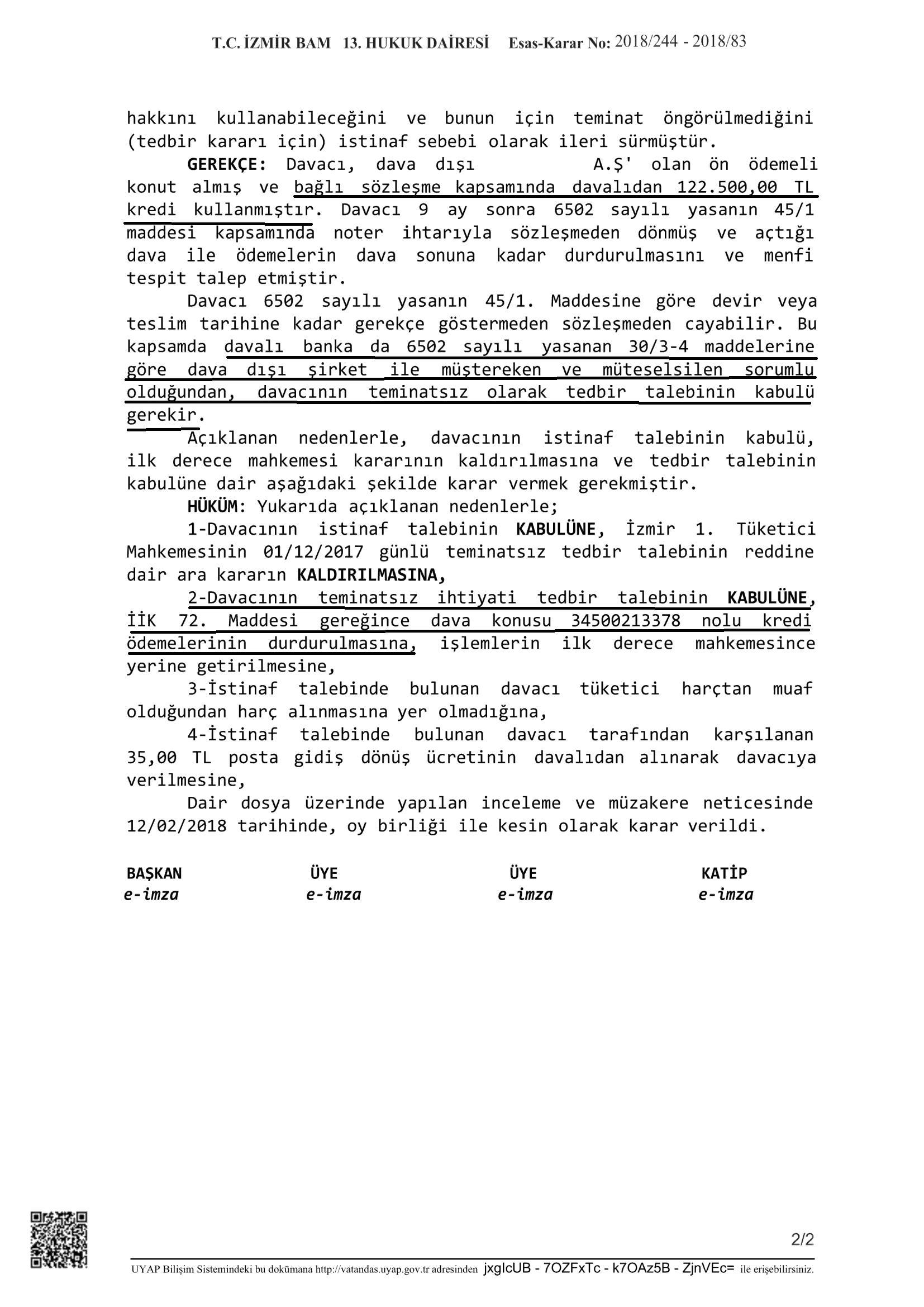 bağlı kredi-menfi tespit-emsal karar-1, 2/2